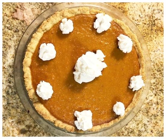 Sweet Potato Pie with Whip Cream
