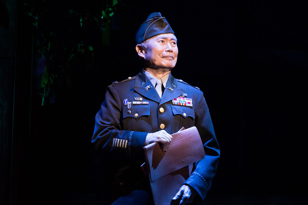 George Takei as Sam Kimura in the original Broadway production of Allegiance. Photo by Matthew Murphy.