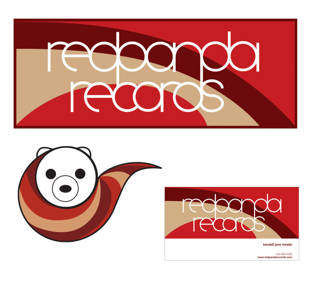 2003: Red Panda Records: Logos and Business Card