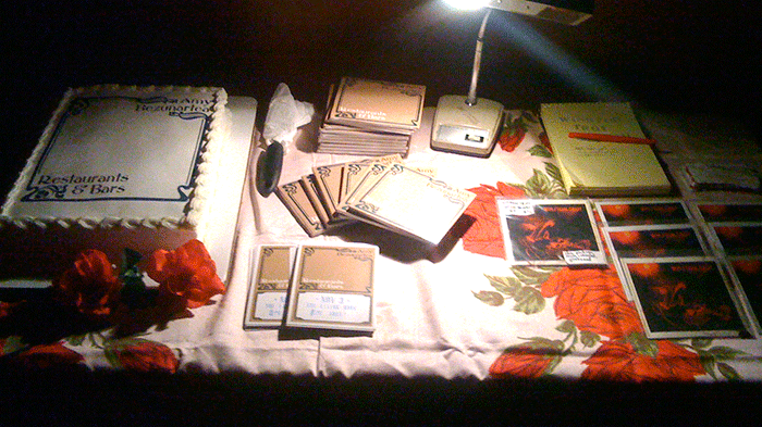 2010: Winston Troy and Amy Bezunatrea merch table at The Living Room show (…when it was on Ludlow St.)