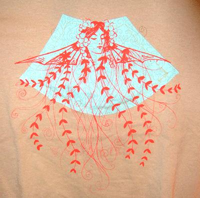 2010: Winston Troy: Applique & Screenprinted shirt detail