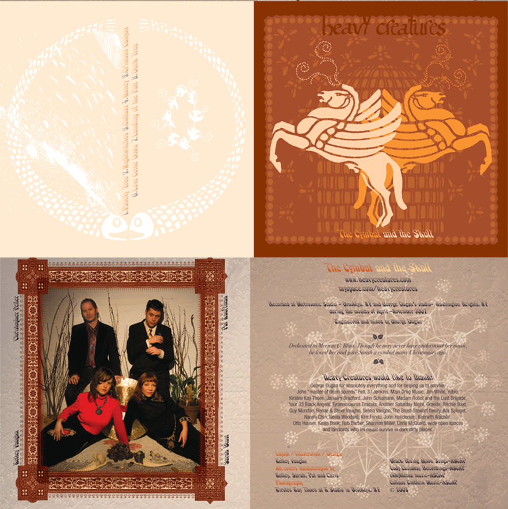 """2008: Heavy Creatures: """"The Cymbal and the Skull"""" CD Insert"""