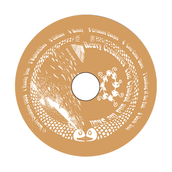 """2008: Heavy Creatures: """"The Cymbal and the Skull"""" CD design"""