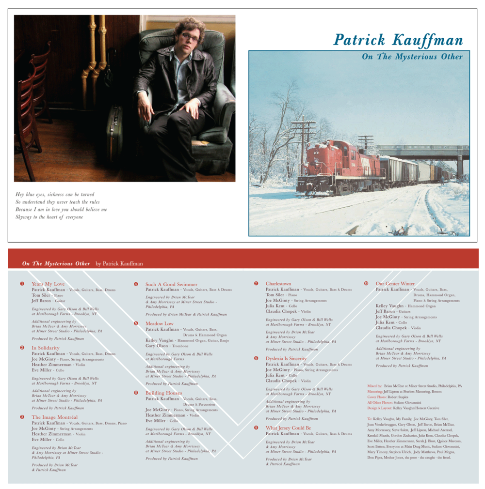 """2004: Patrick Kauffman """"On The Mysterious Other"""" CD Insert"""