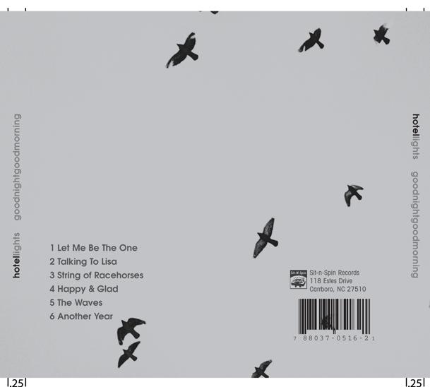 "2007: Hotel Lights: ""Good Night Good Morning"" CD Cover (back)"