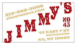 2007: Jimmy's No. 43: Business Card