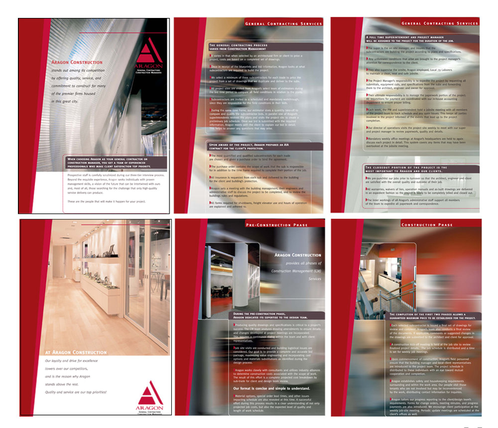2004: Aragon Construction; Promotional Pages