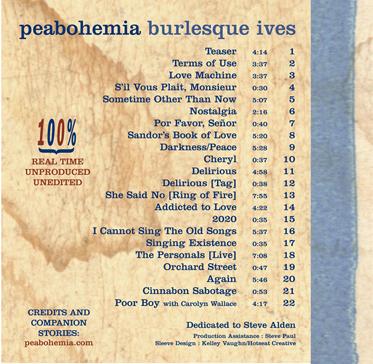 2003: Peaboheamia CD Cover (back)