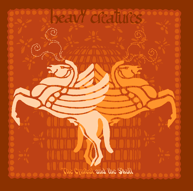 """2008: Heavy Creatures """"The Cymbal and the Skull"""" CD Cover Insert Front"""