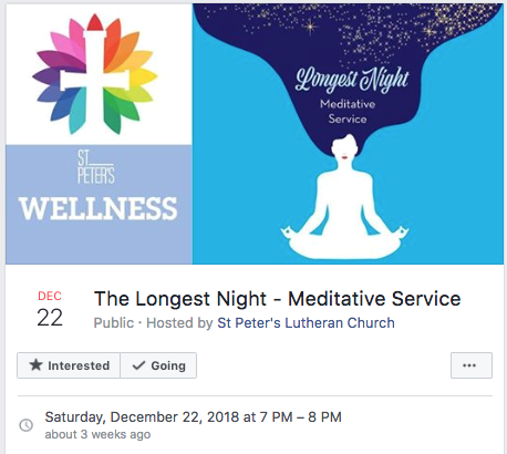 Facebook  Event graphic for St. Peter's Lutheran Church