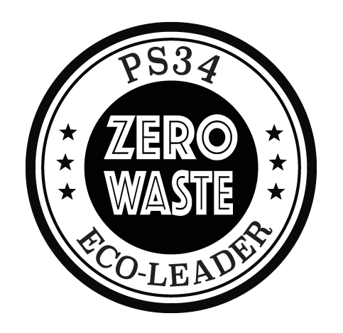 PS 34 is an elementary school in Brooklyn. This is a hand-stamp design for a Zero Waste initiative the school implemented in 2016.