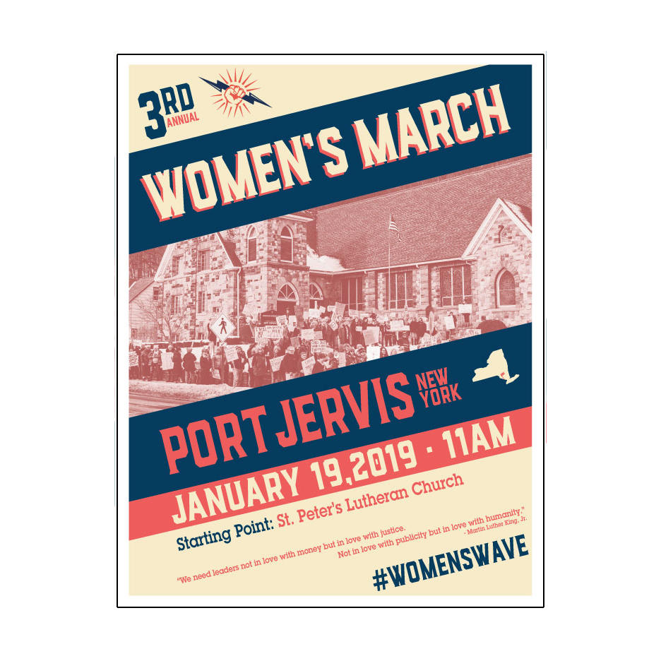 Women's March 2019 Poster | Port Jervis, NY
