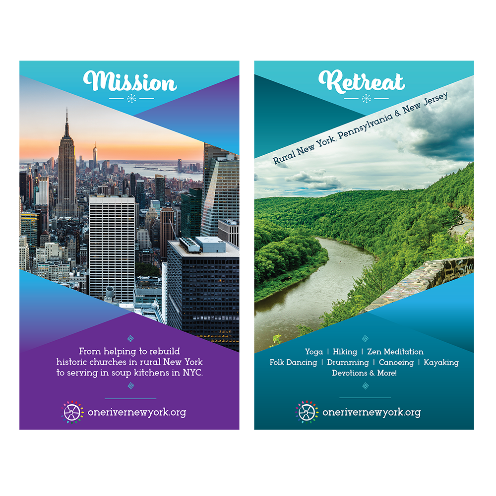 One River | Port Jervis, NY   Retractable Banners for large trade show.