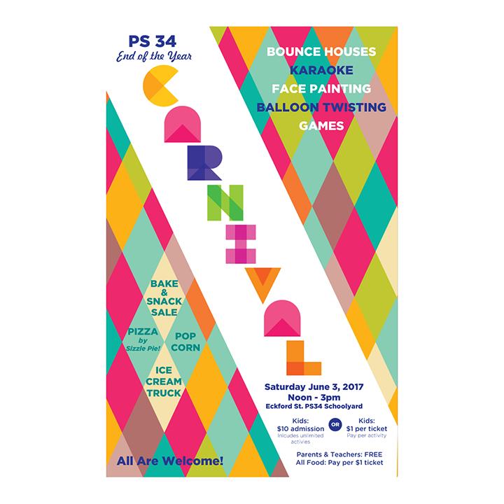 2016: PS 34 Elementary School | Brooklyn, NY   Carnival poster