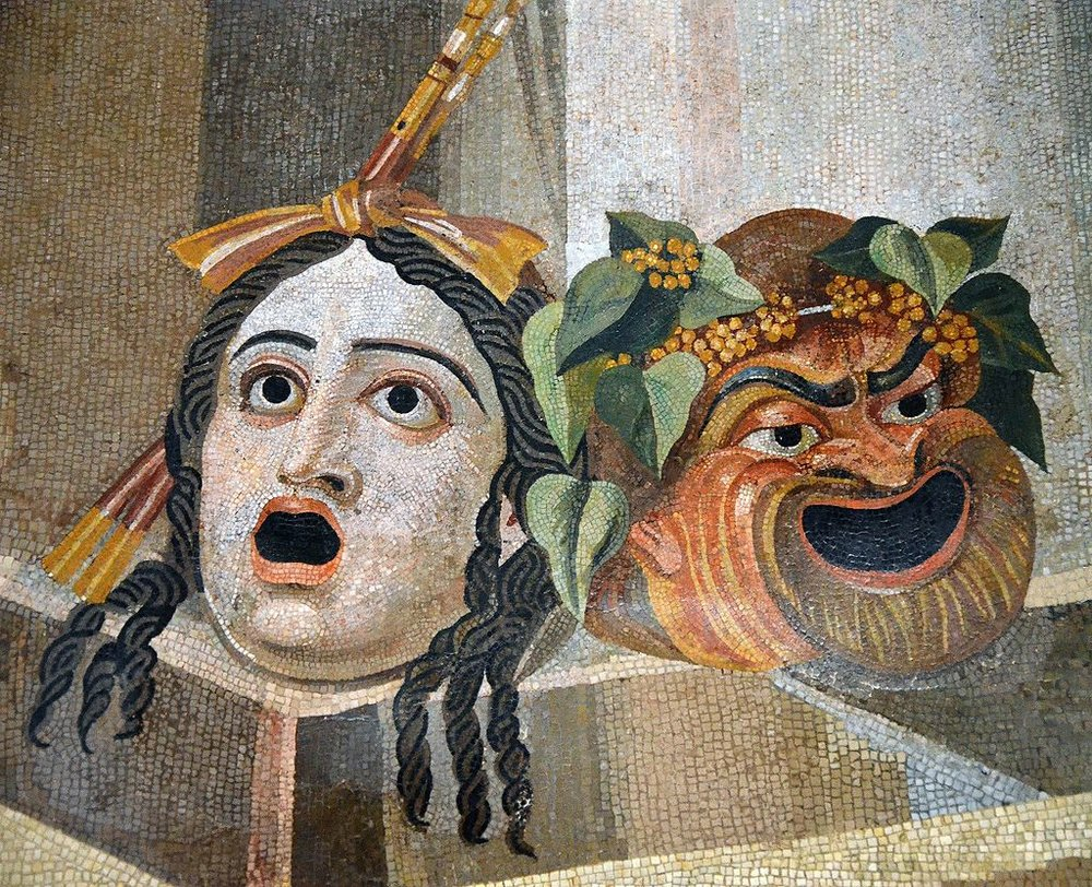 1024px-Mosaic_depicting_theatrical_masks_of_Tragedy_and_Comedy_(Thermae_Decianae)[1].jpg