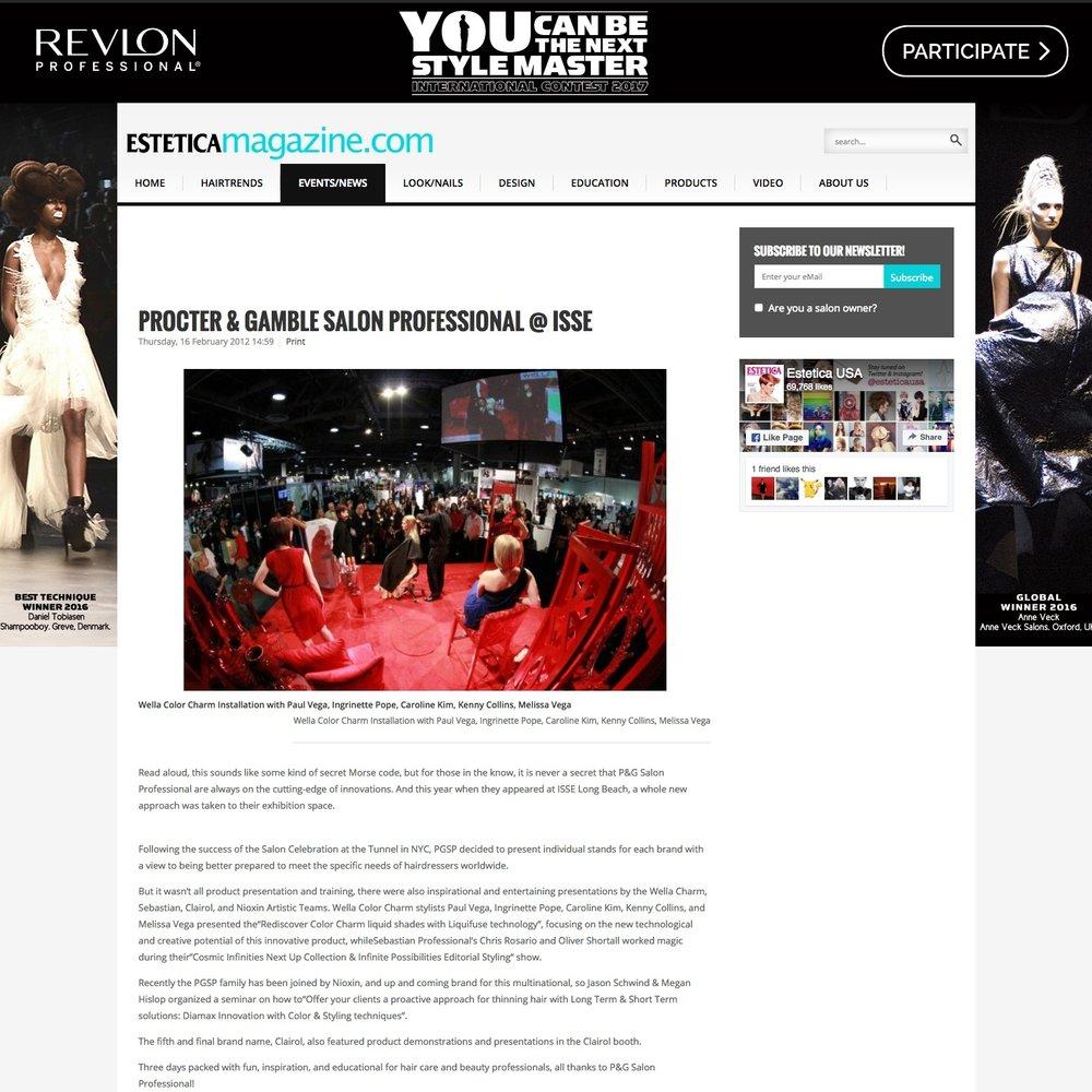 Estetica Magazine<br />February 16, 2012