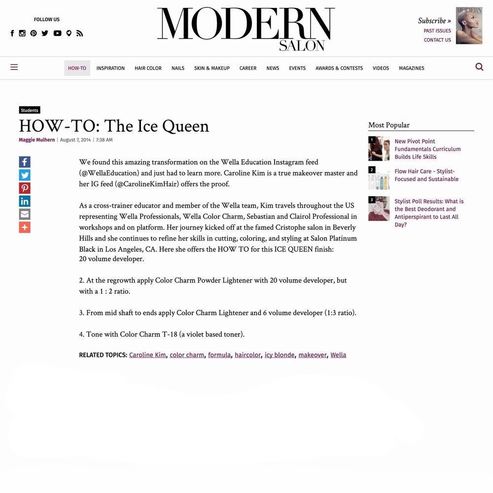 Modern Salon<br />August 7, 2014