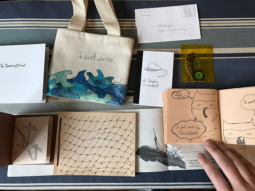 My collection of Hazel's handmade books and zines circa 2004