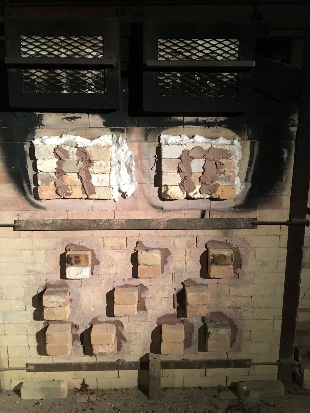 Kiln closed for cool-down