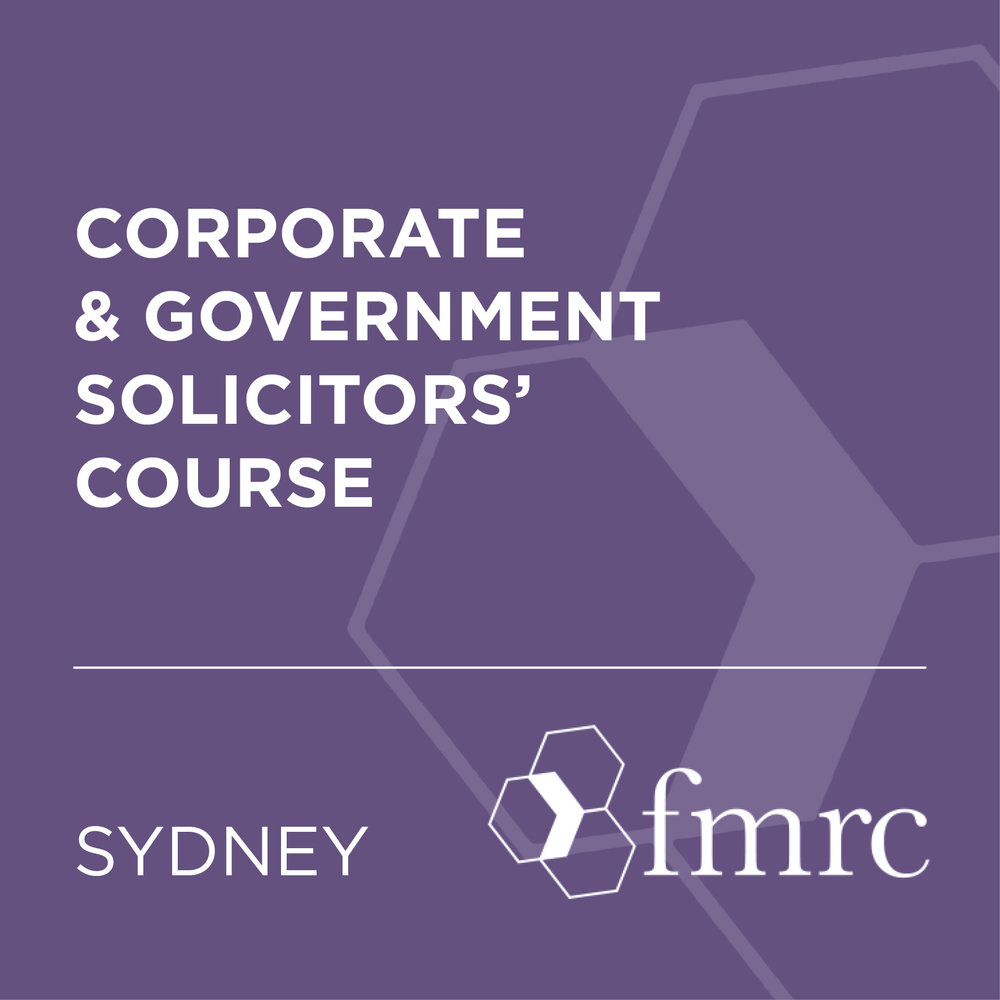Corporate & Gov Solicitors Course