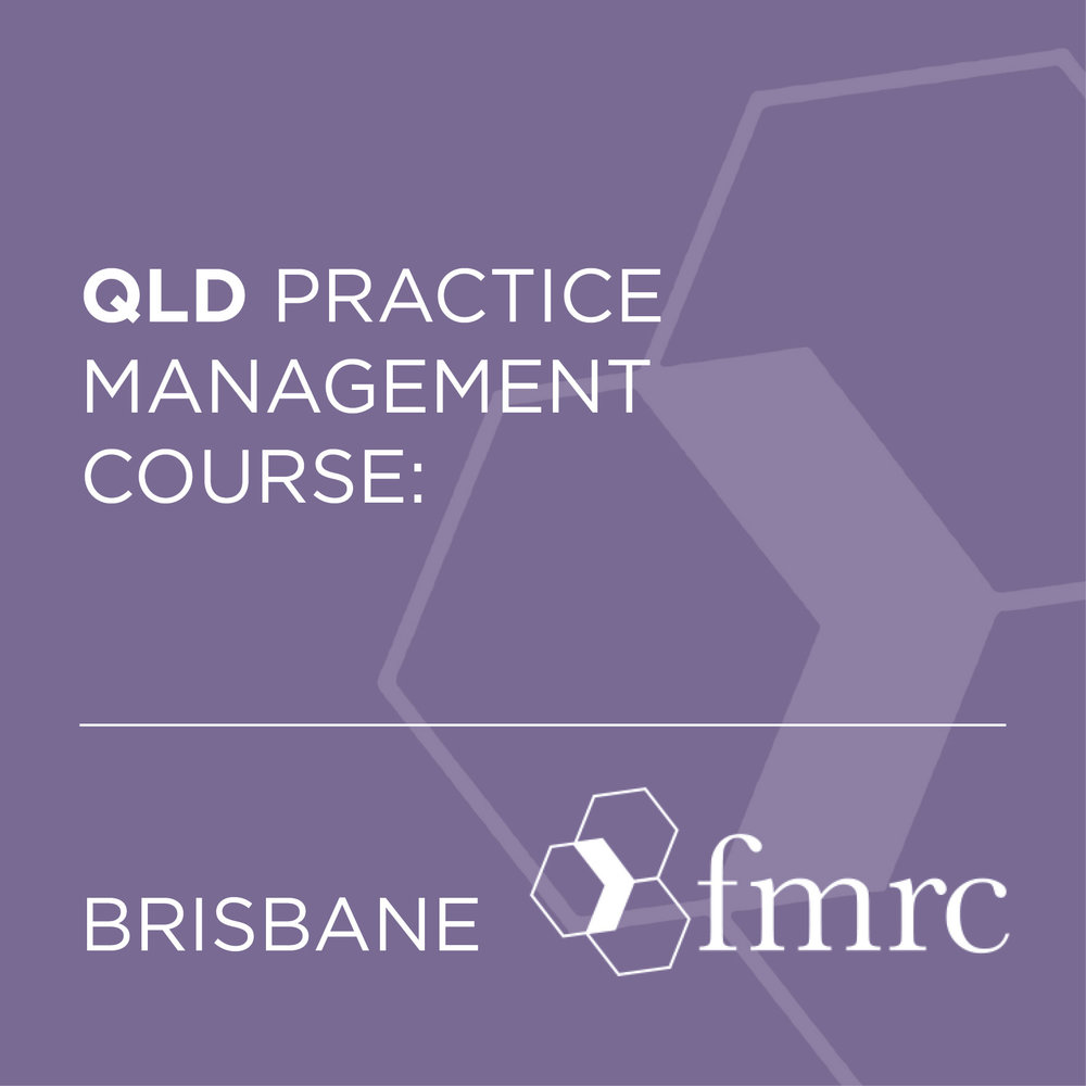 QLD PRACTICE MANAGEMENT COURSE