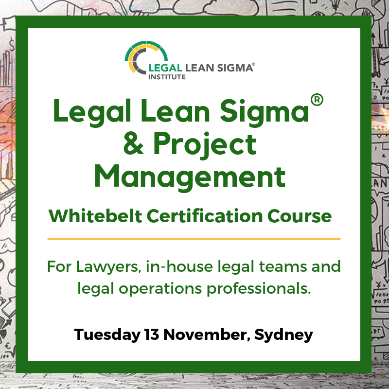 Legal Lean Sigma And Project Management White Belt Certification