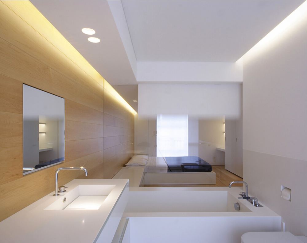 Ceiling design ceiling recessed led lighting a l e z jm architects ceiling to wall void led lighting aloadofball Image collections