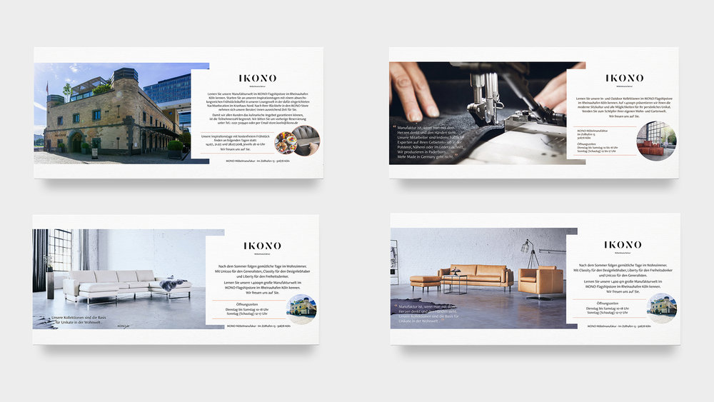 IKONO Print Anzeigenkampagnen