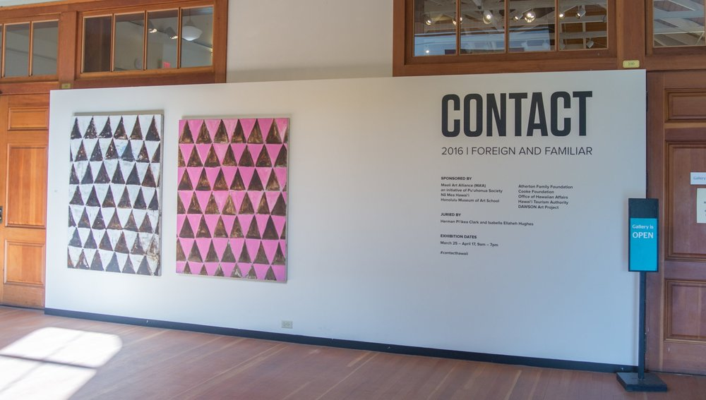 Installation view of CONTACT 2016