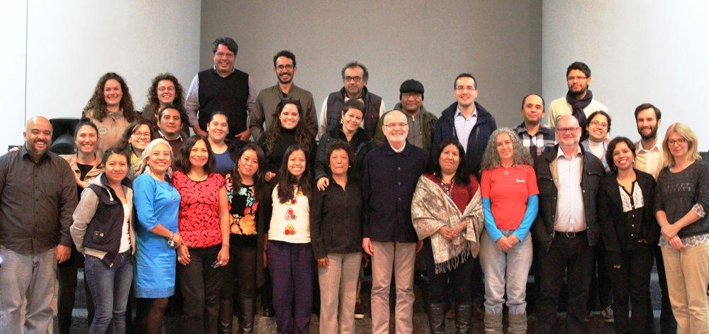 Algunos participantes en el taller de Mexico City