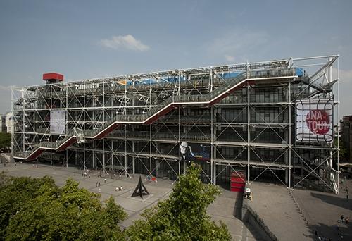 La Centre Pompidou in France. Source: https://www.centrepompidou.fr/en/The-Centre-Pompidou/The-history