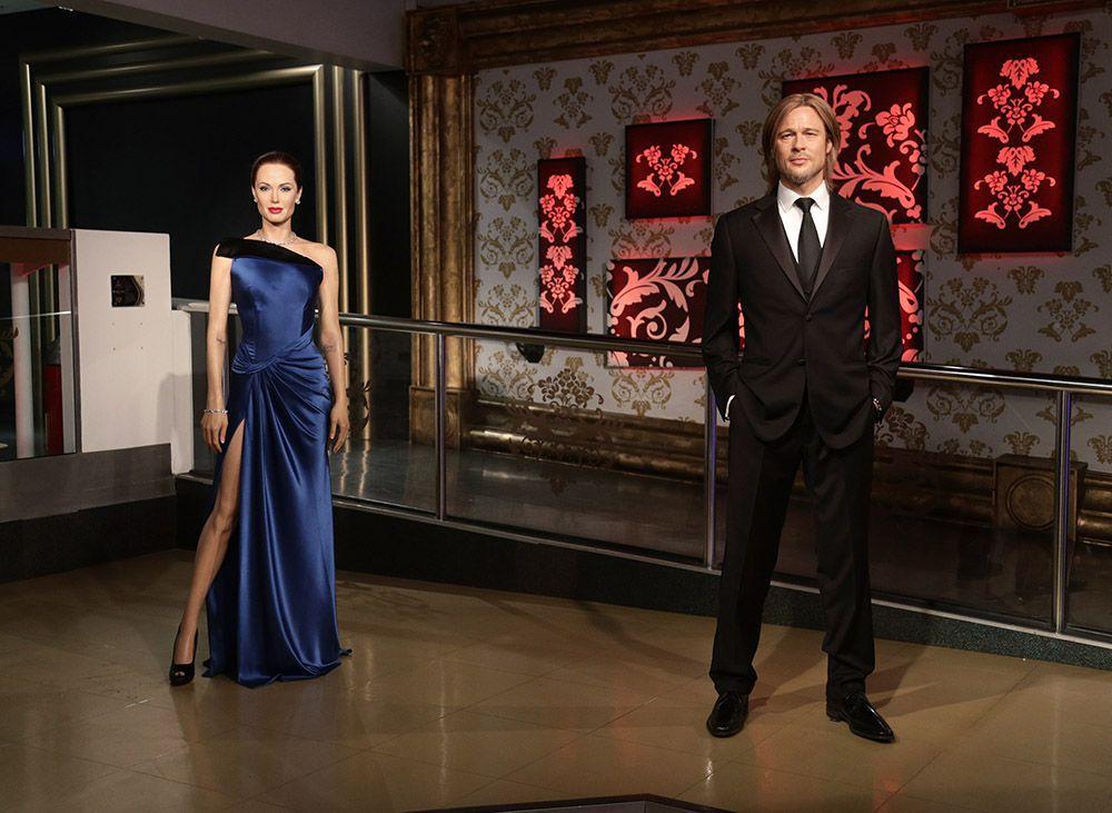 Angelina Jolie & Brad Pitt's waxworks at Madame Tussauds