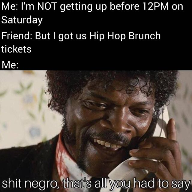 The only reason to be up before 12PM on a Saturday 😎 #HipHopBrunch #GetOnTheBus