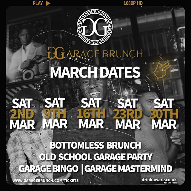 The Original Garage Brunch is going hard this March!!! 😆🙌 #oioi  Tickets & info 👉 link in bio