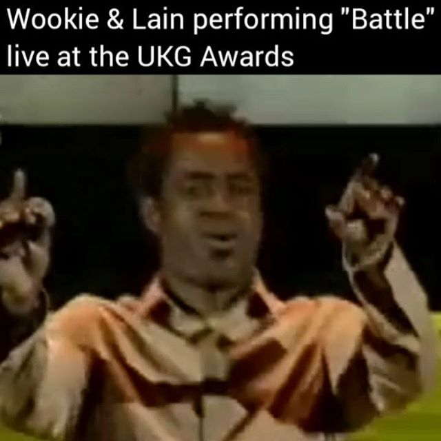 """👈swipe👈 @Wooxstar & Lain performing CLASSIC UK Garage banger """"Battle"""" live on the UKG Awards back in the day! 🔥🔥 #Wookie #tbt #oioi"""