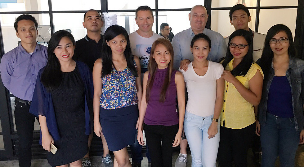 Asia Offshoring team and Andrew Ford from Social Star