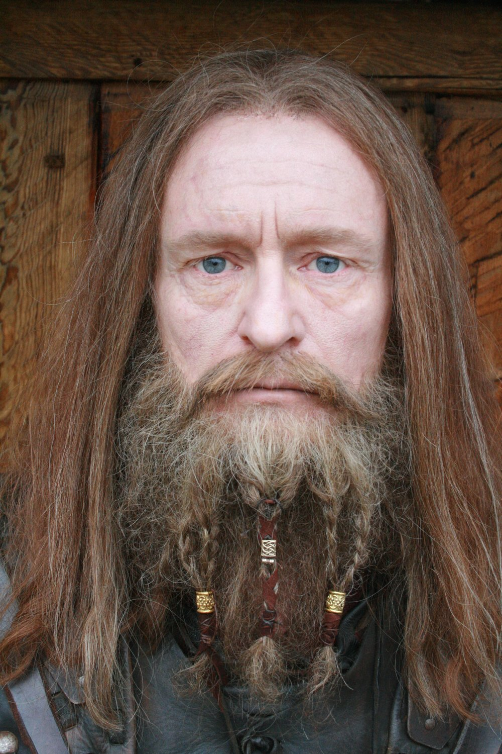 "Wig and beard for the project "" VIKINGANE "" Designed and applied by Asta and DImitra"