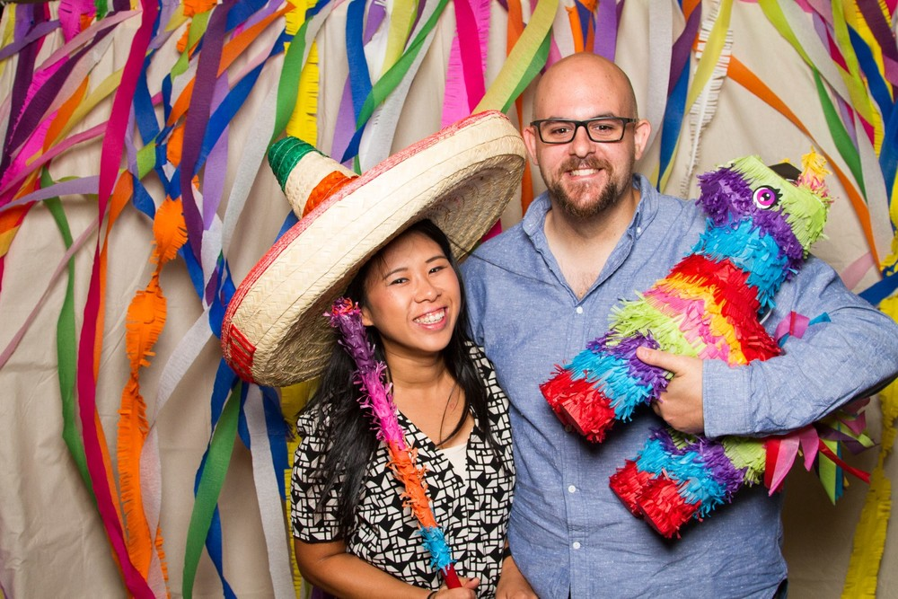 Mexican engagement party backdrop streamer perth event calico
