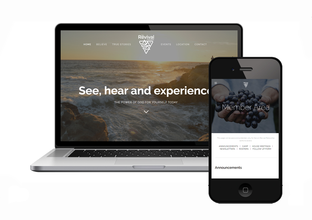 Darwin Revival Fellowship Church website design and development