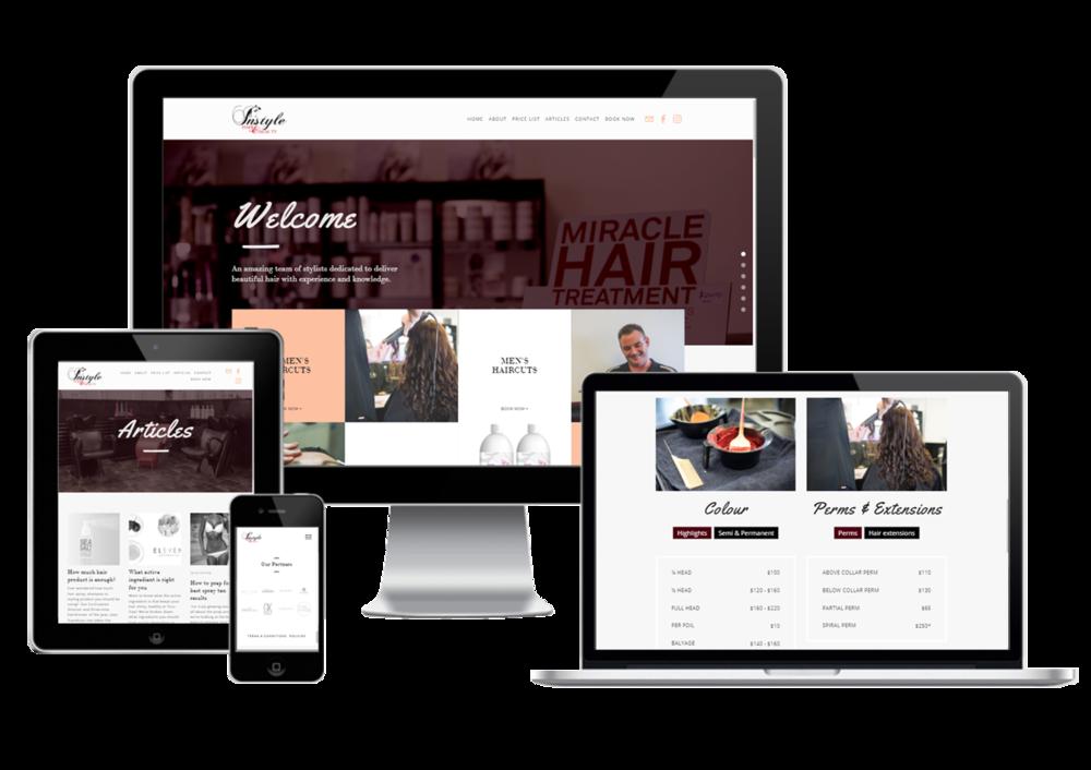 Beauty websites web design and development Darwin