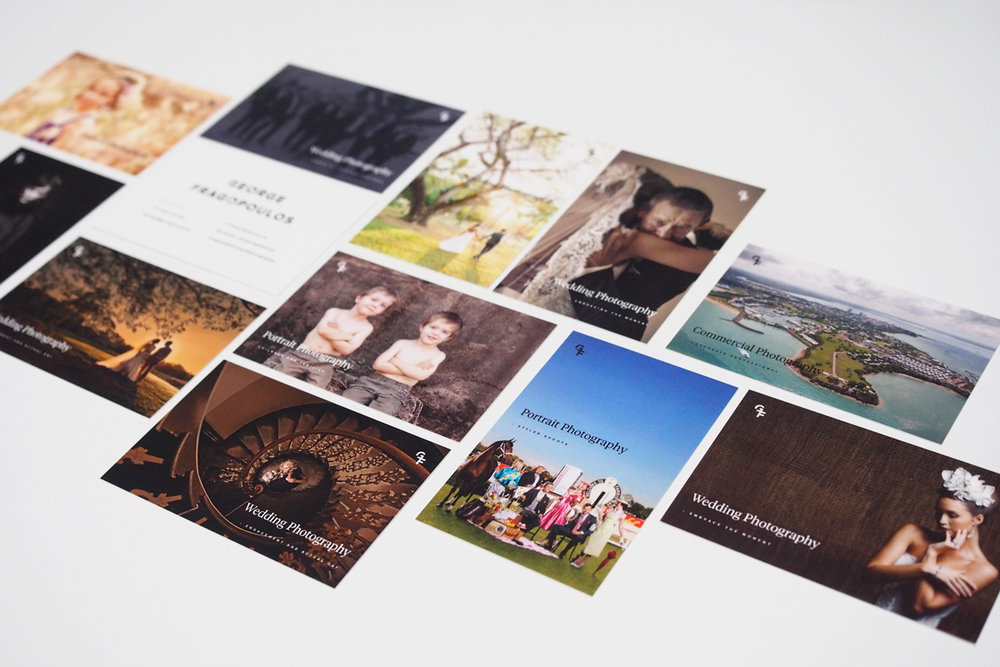 Multi-print - By the power of MOO Cards, you can have up to 50 different designs in a single run