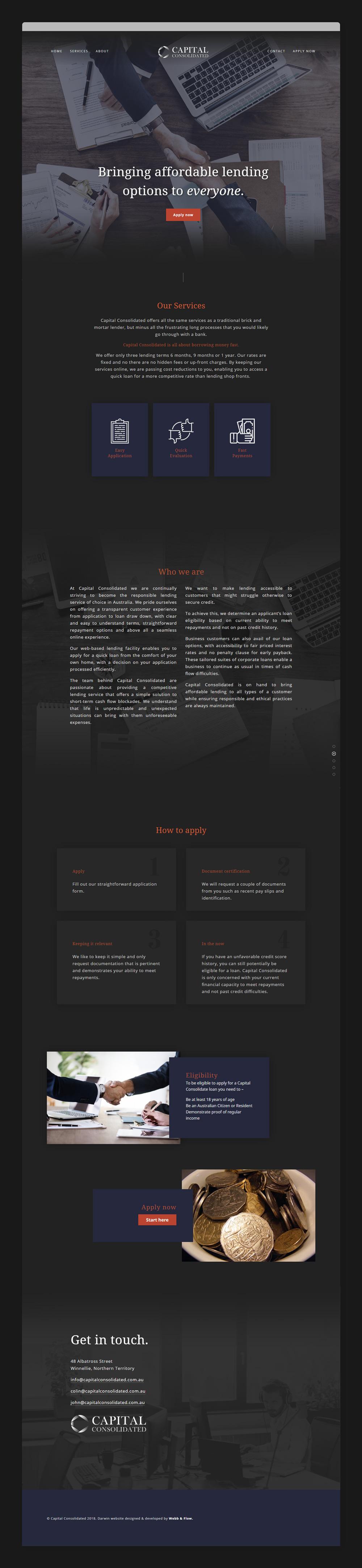 capital consolidated website finance affordable web designer