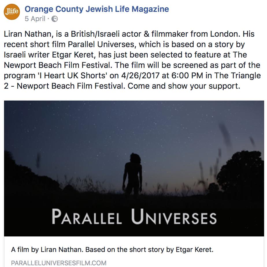 Orange County Jewish Life Magazine - April 2017