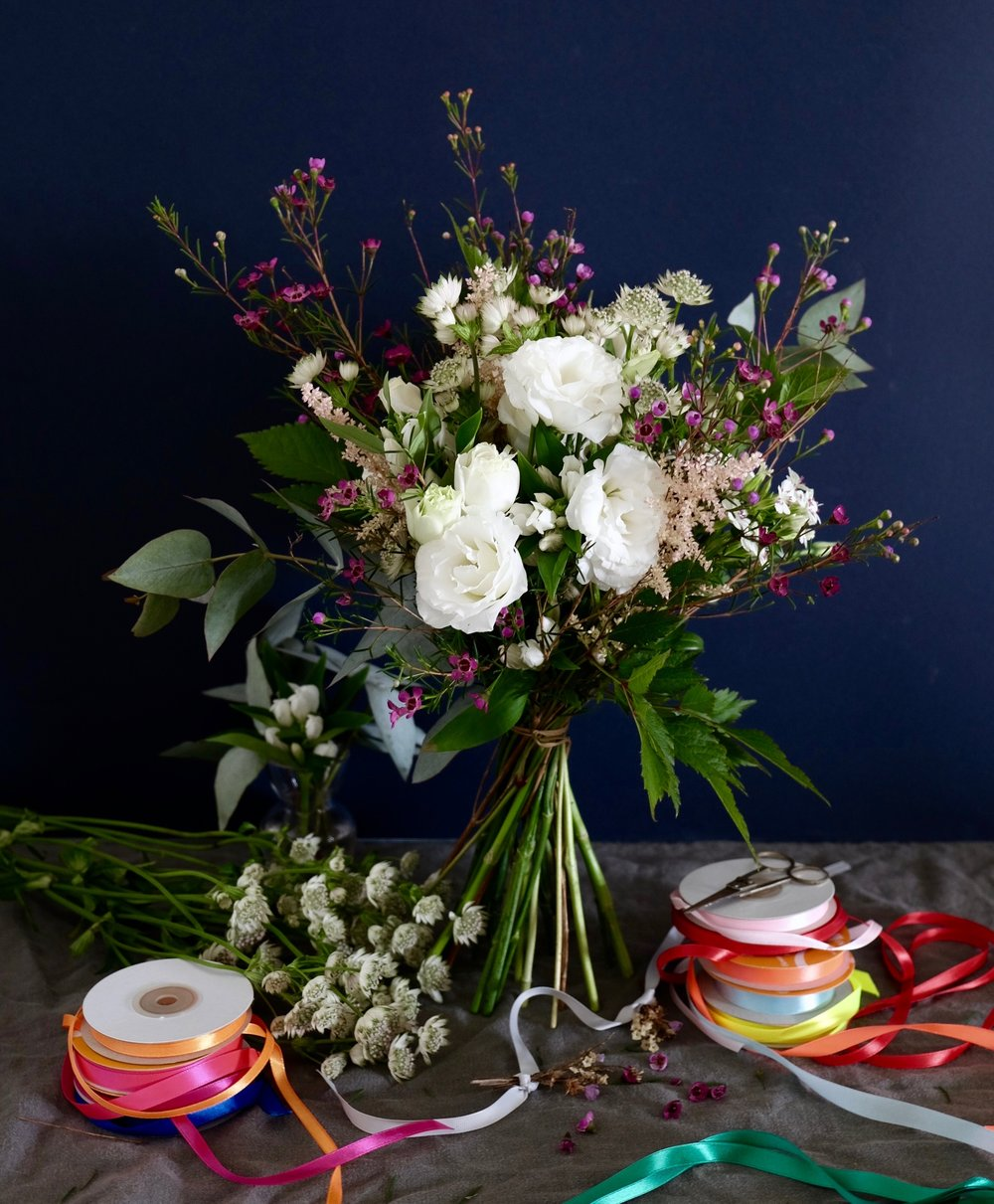 Ask a French Flowers white and rubansbouquet.jpg