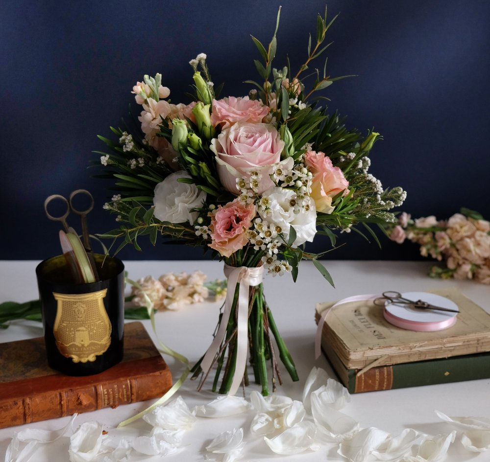 Ask a French flowers bridal bouquet