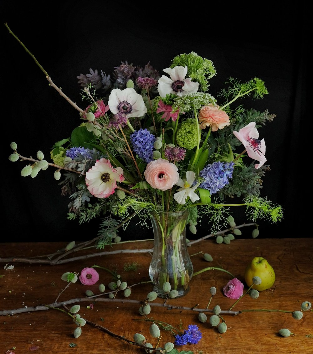 Ask a French Flowers bouquet anemones