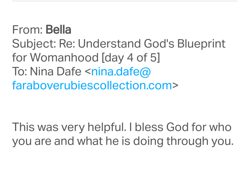 Understand gods blueprint for womanhood in 5 days the far above if this course is packed with such value why is it free malvernweather Choice Image