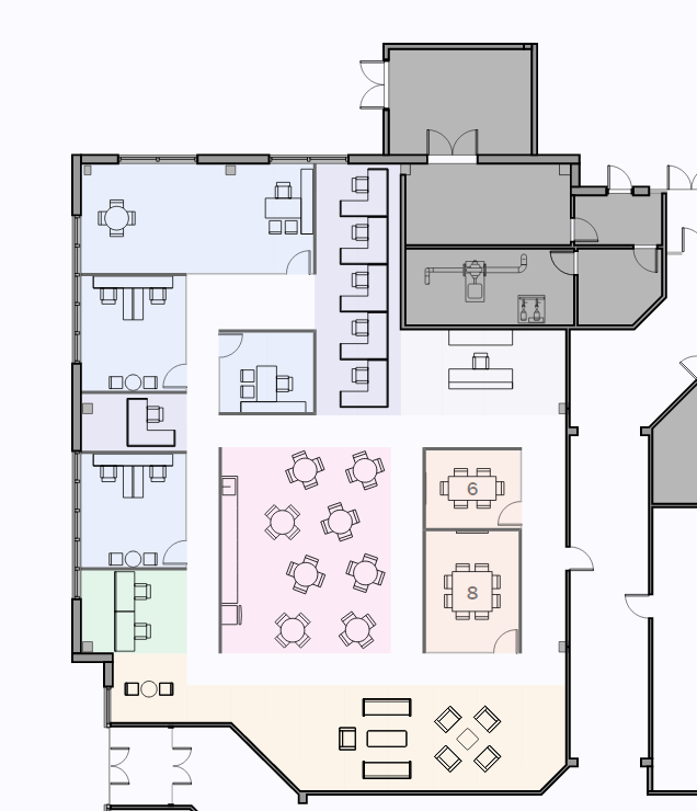Sample layout, first floor (click to enlarge) .