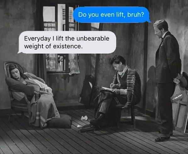 The unbearable weight of existence - via  @textsfromyourexistentialist