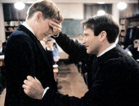 Robin Williams and Ethan Hawke, Dead Poets Society